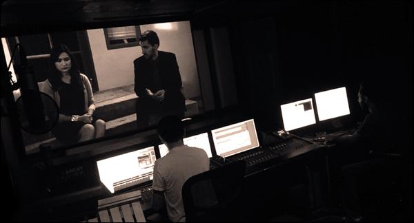 Ryan Young and Koren Young (above) mix a short film at Arcay Studios