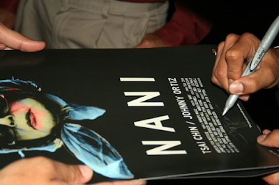 Nani Justin Tipping Signing Autograph Poster