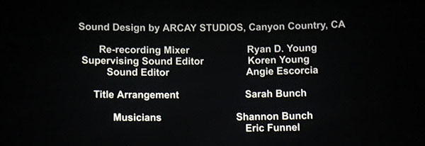 Inheritance movie end credits