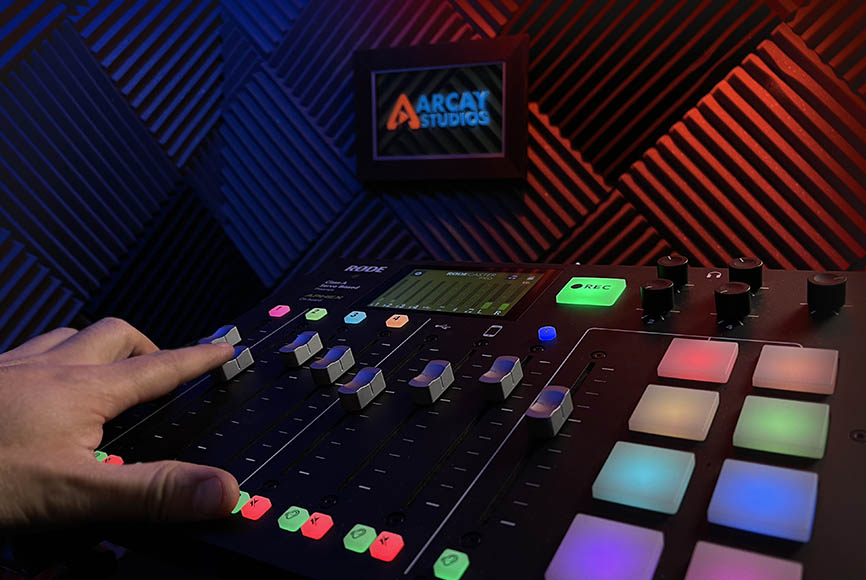 Arcay Studios Rodecaster Pro Podcast Production Santa Clarita
